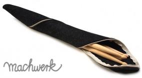 Etui für Drumsticks aus Wollfilz - anthrazit