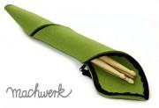 Etui für Drumsticks aus Wollfilz - grün