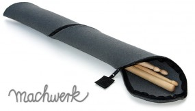 Etui für Drumsticks aus Wollfilz - betongrau