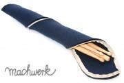 Etui für Drumsticks aus Wollfilz - marine