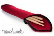 Etui für Drumsticks aus Wollfilz - rot