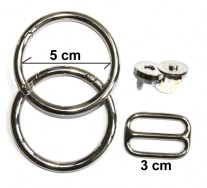 Metallteile Ewa, 5 cm Ringdurchmesser