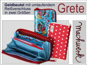 Grete - Geldbeutel mit Reißverschluss
