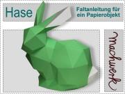 Bastelbogen und Anleitung: Hase aus Papier