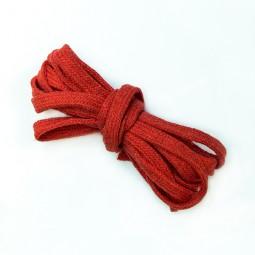 3 m flache Kordel, 1 cm breit, rot