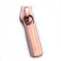 gerader Schieber für breite metallisierte Reißverschlüsse - kupfer