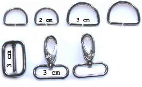 Metallteile Sixta 3 cm