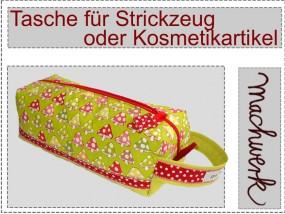 Tasche für Strickzeug oder Kosmetik
