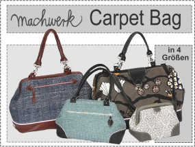 Carpet Bag Taschenschnitt in 4 Größen
