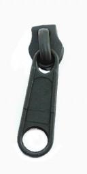 Schieber für schmale Reißverschlussmeterware -anthrazit
