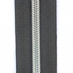 Reißverschluss metallisiert anthrazit