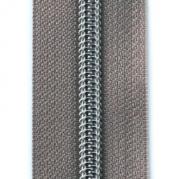 Reißverschluss metallisiert taupe (beige)