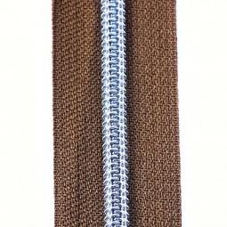 Reißverschluss metallisiert hellbraun