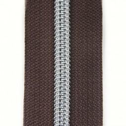 Reißverschluss metallisiert dunkelbraun