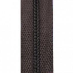 schmale Reißverschlussmeterware dunkelbraun
