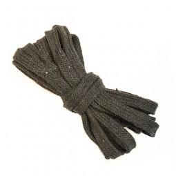 3 m flache Kordel, 1 cm breit, dunkelgrau