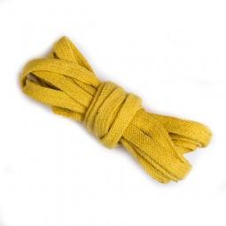 3 m flache Kordel, 1 cm breit, gelb