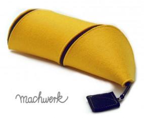 Spiralmäppchen aus Wollfilz- gelb