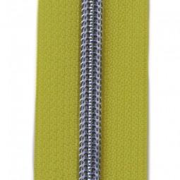Reißverschluss metallisiert gelb