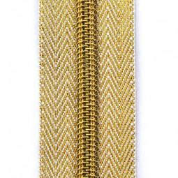 goldener Reißverschluss mit zwei Schiebern