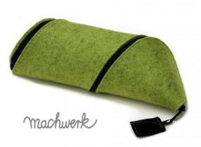 Spiralmäppchen aus Wollfilz - grün (Melange)