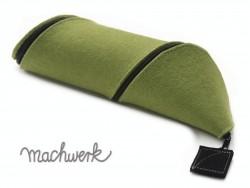 Spiralmäppchen aus Wollfilz- hellgrün