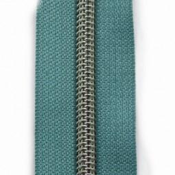 Reißverschluss metallisiert graublau