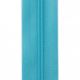 schmale Reißverschlussmeterware türkis