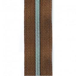schmale metallisierte Reißverschlussmeterware hellbraun