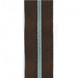 schmale metallisierte Reißverschlussmeterware dunkelbraun