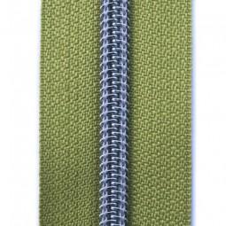 Reißverschluss metallisiert pistazie