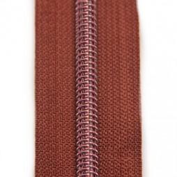 kupferfarberer Reißverschluss metallisiert mit kupferner Krampe