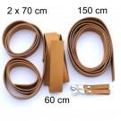 2,5 cm breite Lederriemen, cognac, Set für die Tasche Solo als Laptoptasche