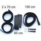 2,5 cm breite Lederriemen, schwarz, Set für die Tasche Solo als Laptoptasche