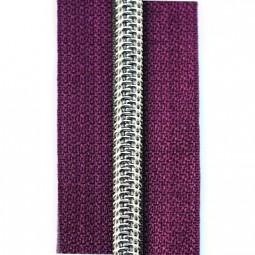Reißverschluss metallisiert lila