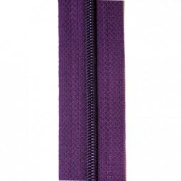 schmale Reißverschlussmeterware lila