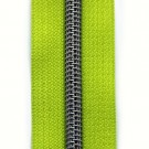 Reißverschluss metallisiert limette