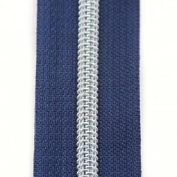Reißverschluss metallisiert marineblau