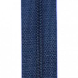 schmale Reißverschlussmeterware marineblau