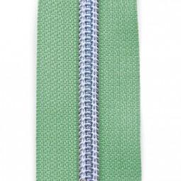 Reißverschluss metallisiert mintgrün