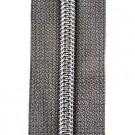 Reißverschluss metallisiert mittelgrau