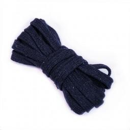 3 m flache Kordel, 1 cm breit, marineblau