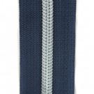 Reißverschluss metallisiert nachtblau