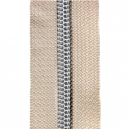 Reißverschluss metallisiert natur