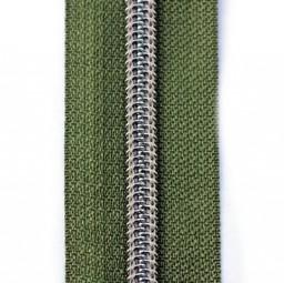 Reißverschluss metallisiert olivgrün
