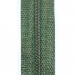 schmale Reißverschlussmeterware olivgrün