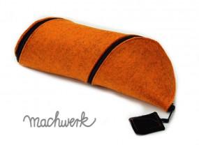 Spiralmäppchen aus Wollfilz - orange (Melange)