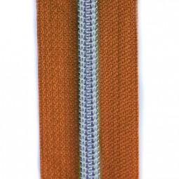 Reißverschluss metallisiert orange