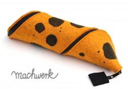 bedrucktes Spiralmäppchen aus Wollfilz- orange