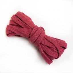 3 m flache Kordel, 1 cm breit, pink